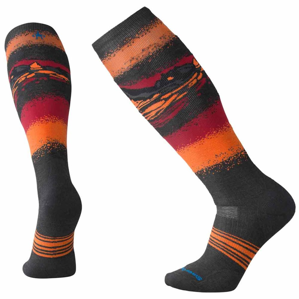 SMARTWOOL Men's PhD Slopestyle Medium Socks - 003-CHARCOAL