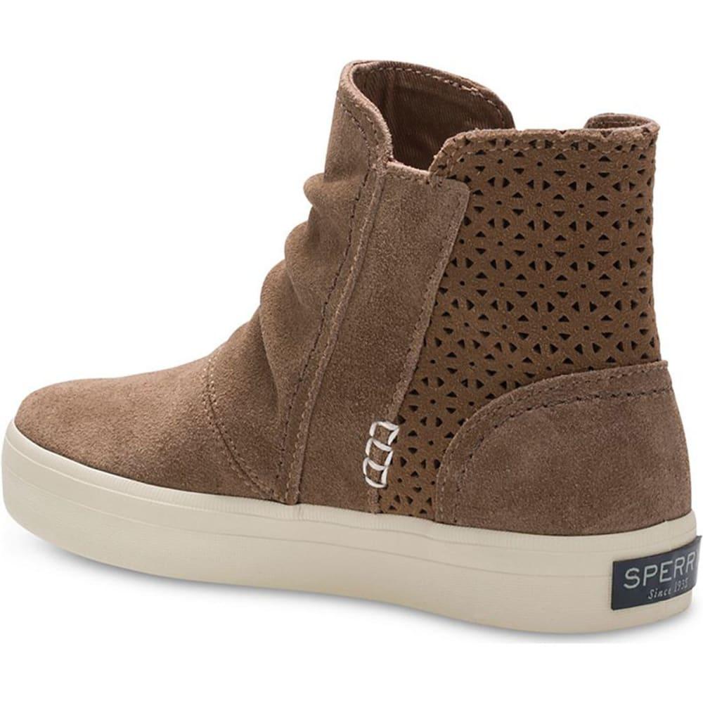 SPERRY Girls' Crest Zone Sneaker Booties - CHESTNUT