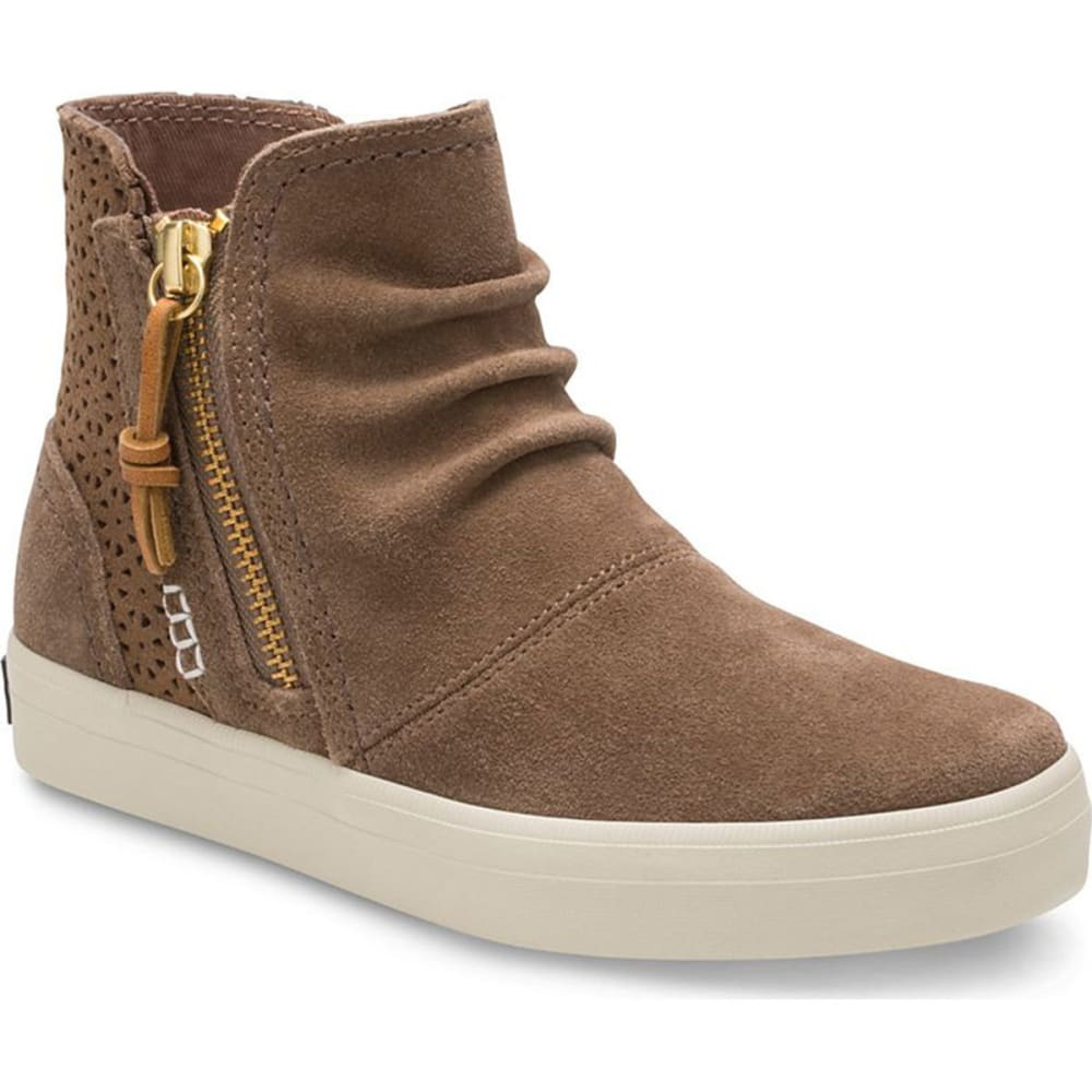 SPERRY Girls' Crest Zone Sneaker Booties - CHESTNUT