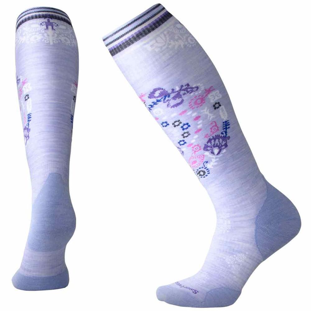 SMARTWOOL Women's PhD Ski Light Elite Pattern Socks - A26-PURPLE MIST