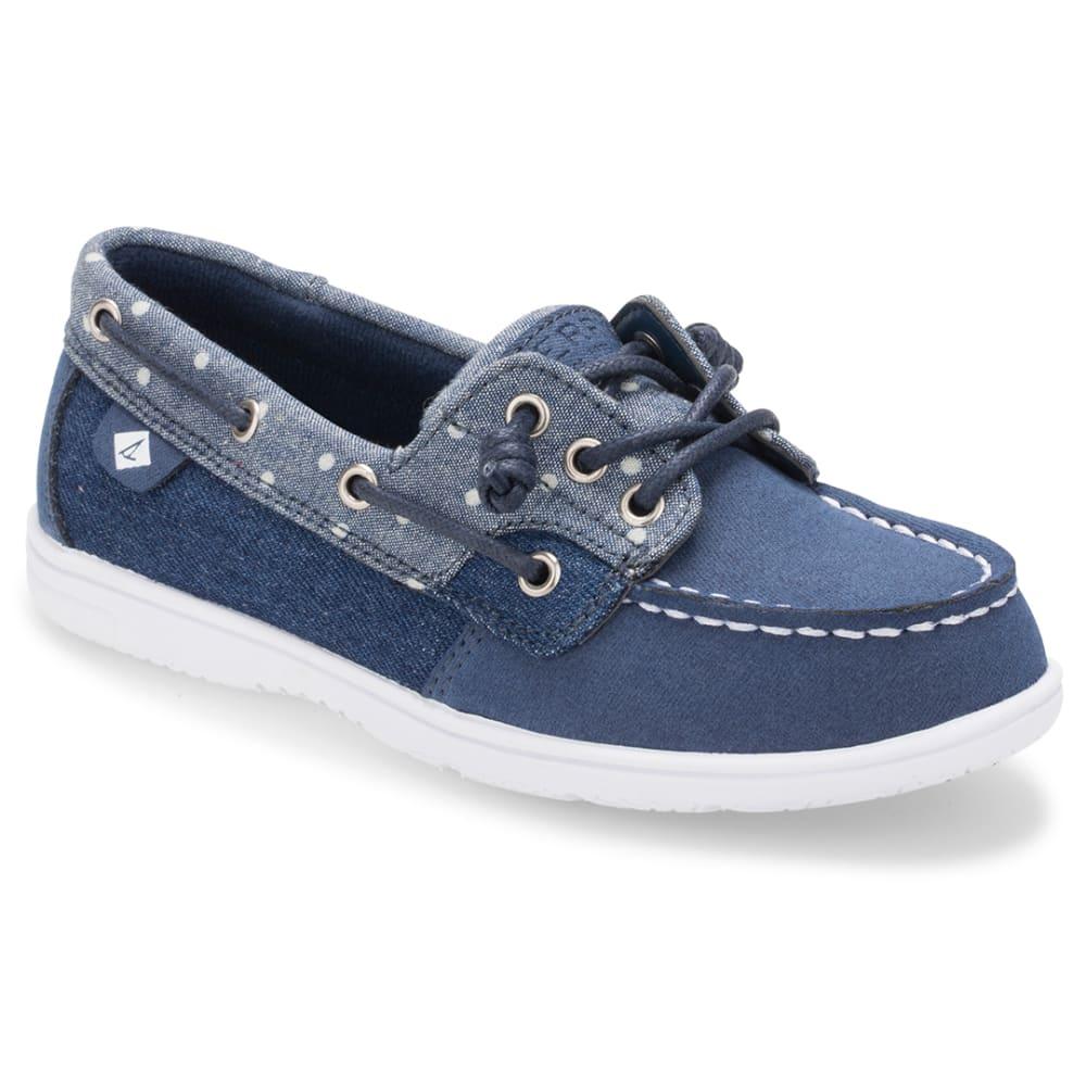 SPERRY Girls' Shoresider 3-Eye Denim Boat Shoes - DENIM