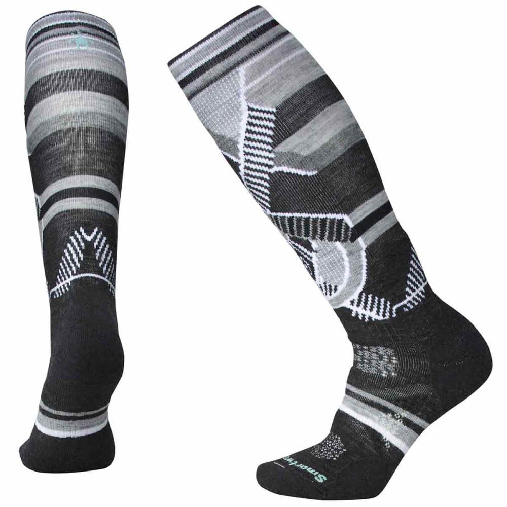 SMARTWOOL Women's PhD Ski Medium Pattern Socks - 003-CHARCOAL