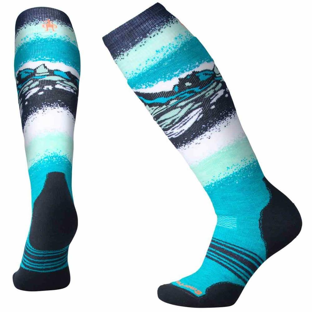 SMARTWOOL Women's PhD Slopestyle Medium Socks - 810-CAPRI