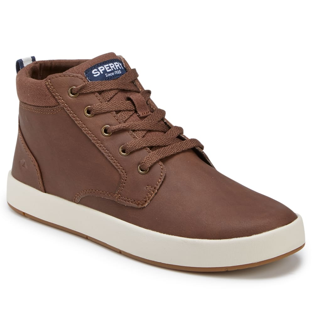 SPERRY Boys' Cruise Mid Boat Shoes - BROWN