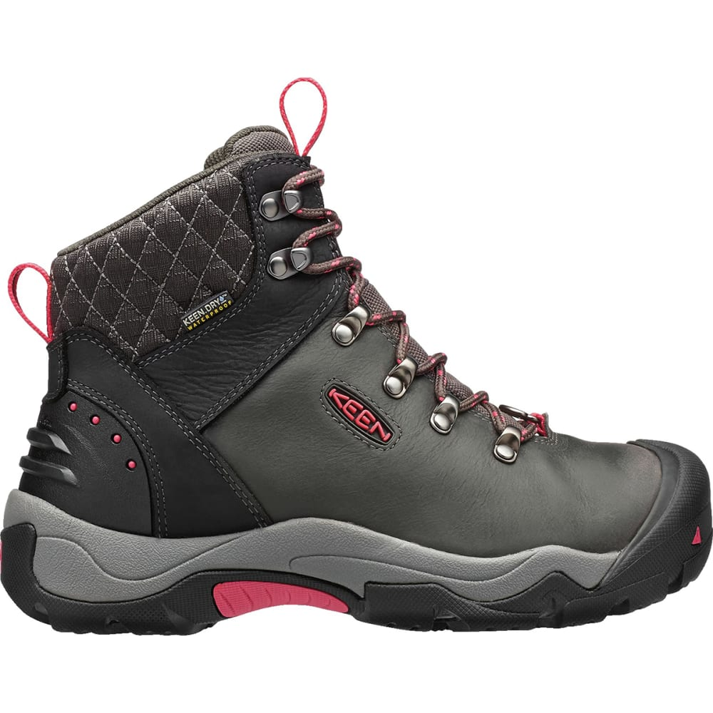 KEEN Women's Revel III Waterproof Insulated Mid Hiking Boots - BLACK/ROSE
