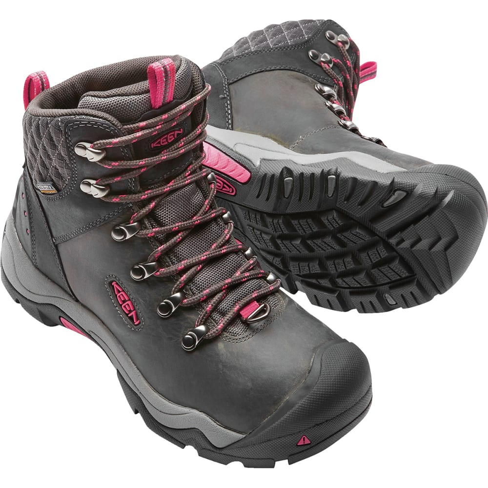a063df6c08 KEEN Women's Revel III Waterproof Insulated Mid Hiking Boots - BLACK/