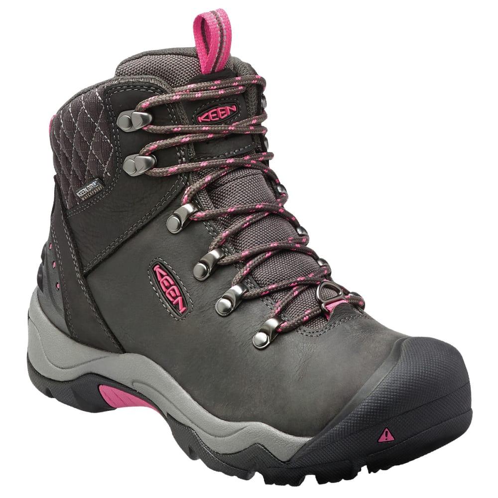 KEEN Women's Revel III Waterproof Insulated Mid Hiking Boots - BLACK/ROSE