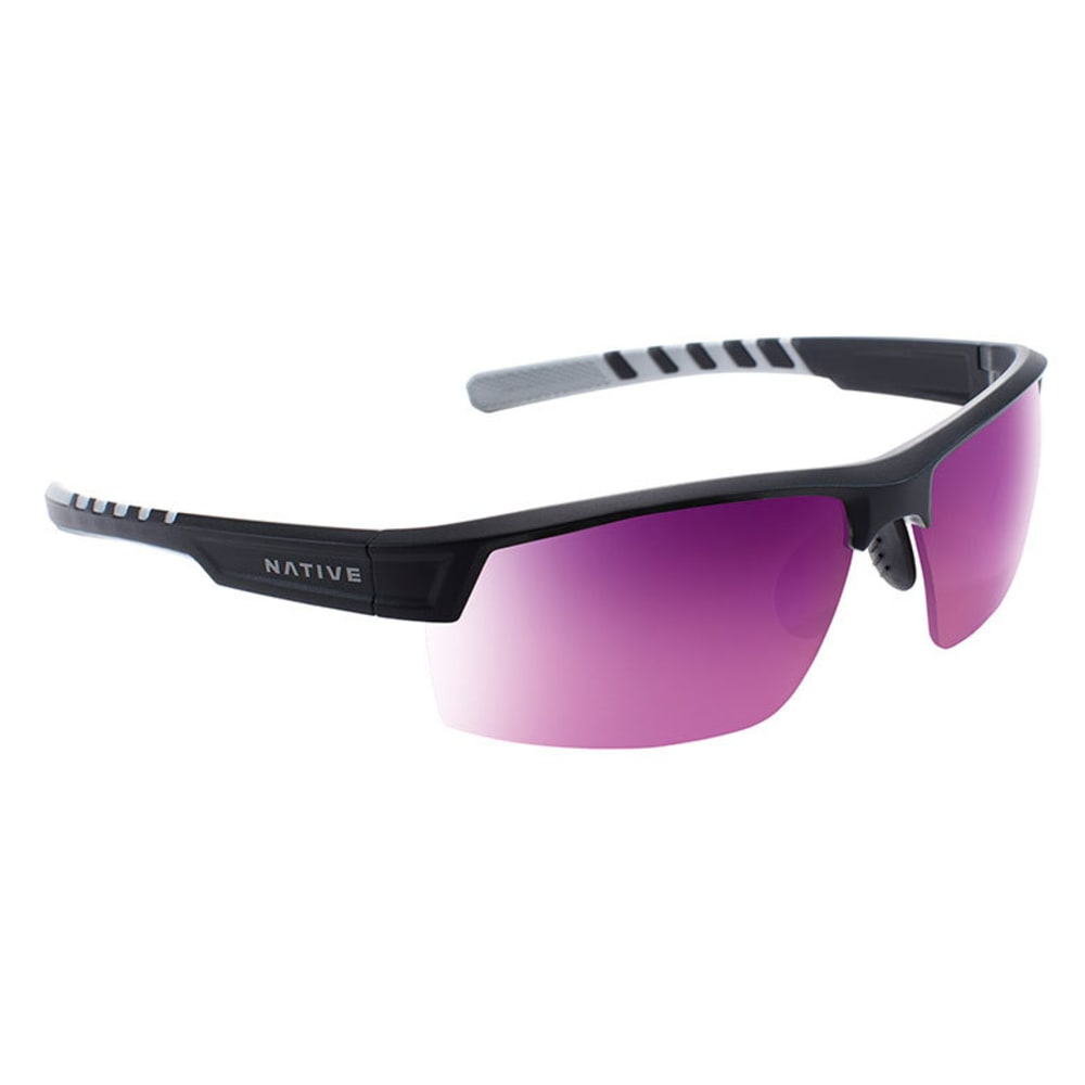 NATIVE EYEWEAR Catamount Sunglasses - MATTE BLACK/CRYSTAL