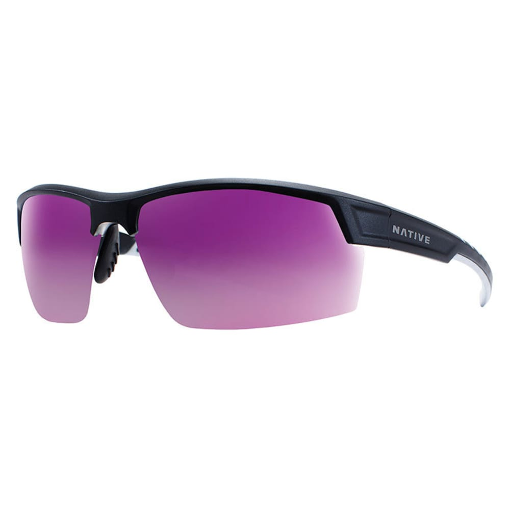 NATIVE EYEWEAR Catamount Sunglasses - MATTE BLACK/CRYSTAL