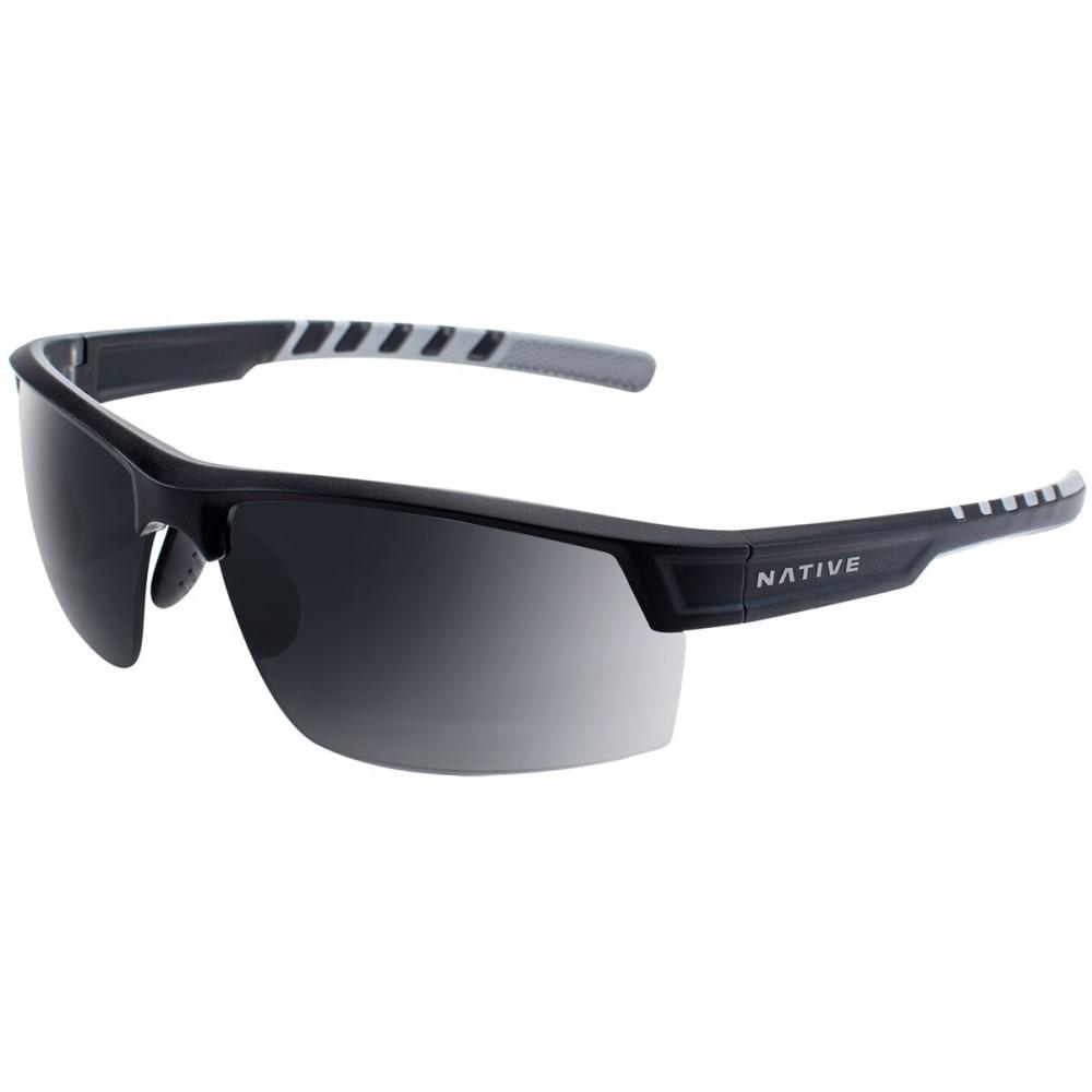 NATIVE EYEWEAR Catamount Polarized Sunglasses - MATTE BLACK/CRYSTAL