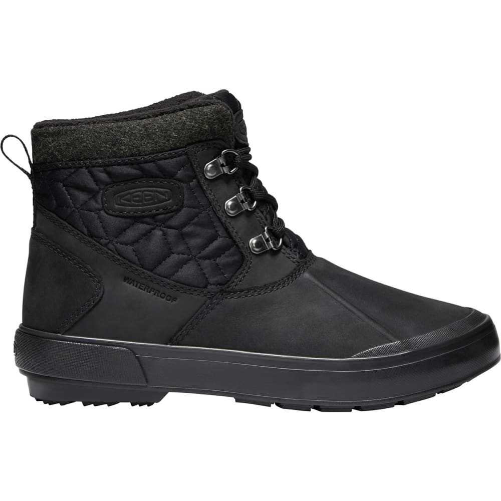 KEEN Women's Elsa II Quilted Waterproof Insulated Ankle Boots - BLACK