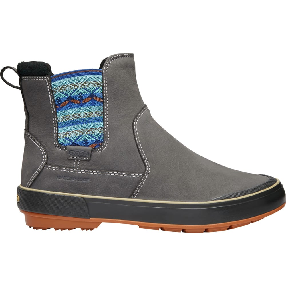 KEEN Women's Elsa II Waterproof Insulated Chelsea Boots - STEEL GREY/RAVEN