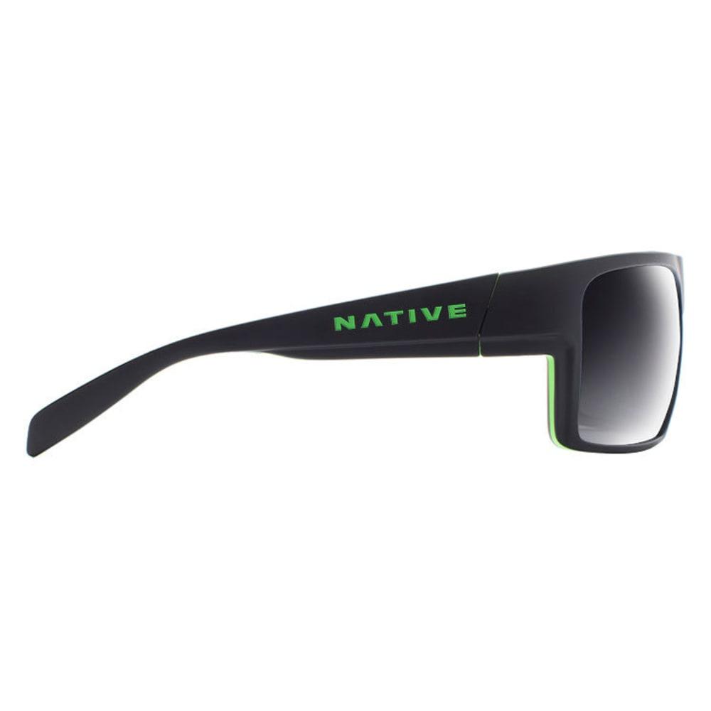 NATIVE EYEWEAR Eldo Sunglasses - M BLK/LIME/GRAY