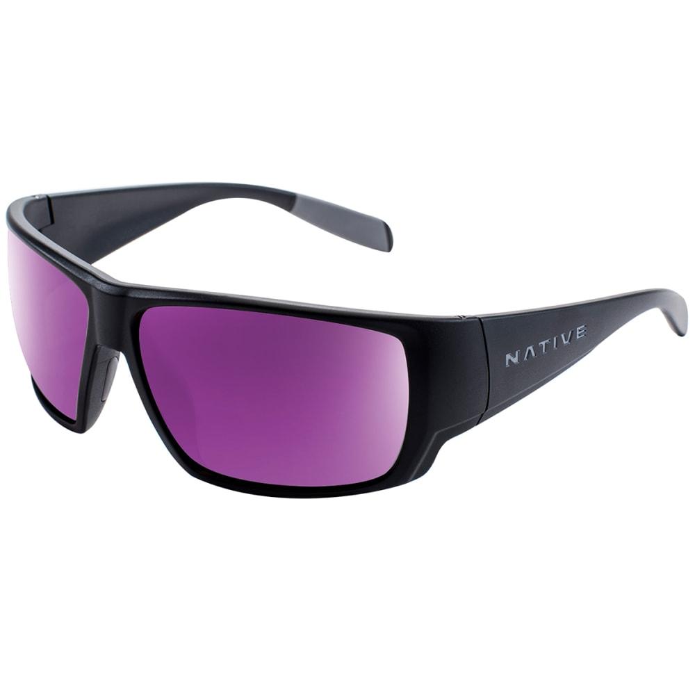 NATIVE EYEWEAR Sightcaster Polarized Sunglasses - MATTE BLACK VIOLET