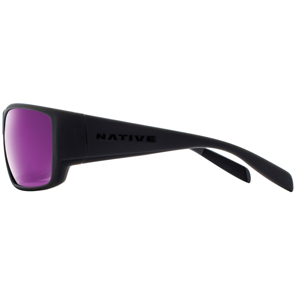 NATIVE EYEWEAR Sightcaster Polarized Sunglasses - MATTE BLACK VIOLET