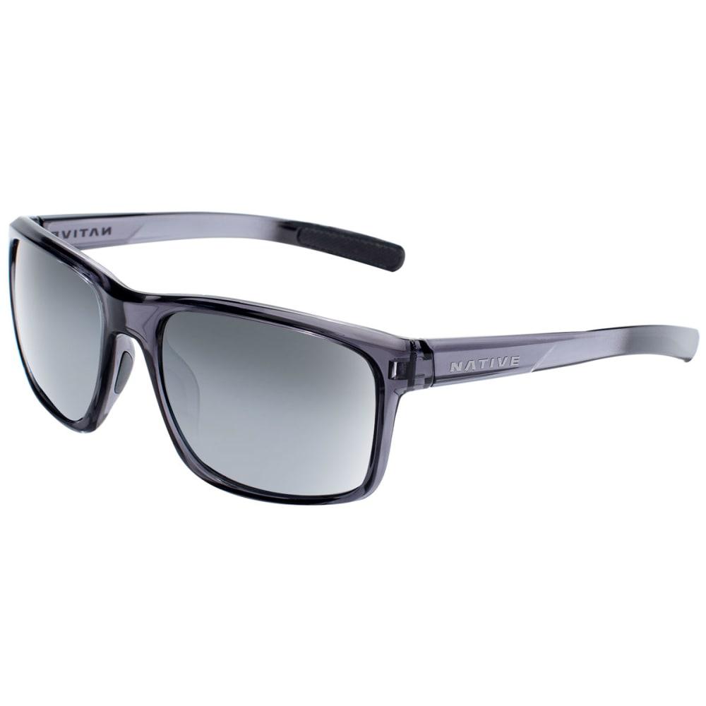 NATIVE EYEWEAR Wells Polarized Sunglasses - DK CRYSTAL GRAY