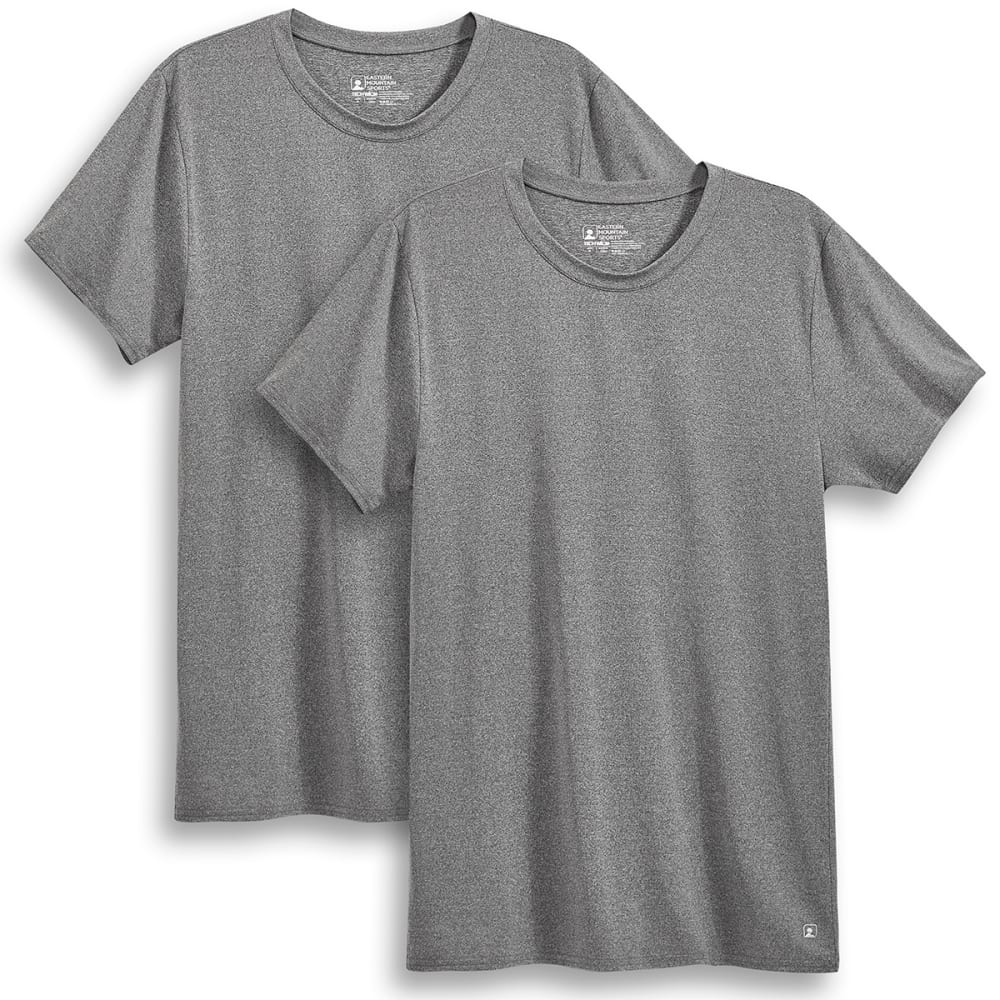 EMS Men's Techwick Crew Undershirts, 2 Pack - CASTLEROCK HEATHER
