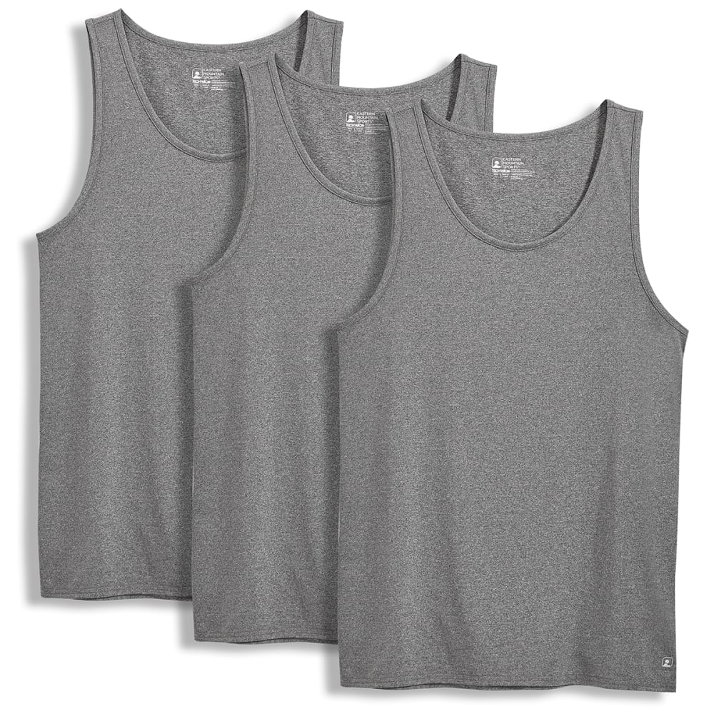 EMS Men's Techwick A-Shirts, 3-Pack - CASTLEROCK HEATHER