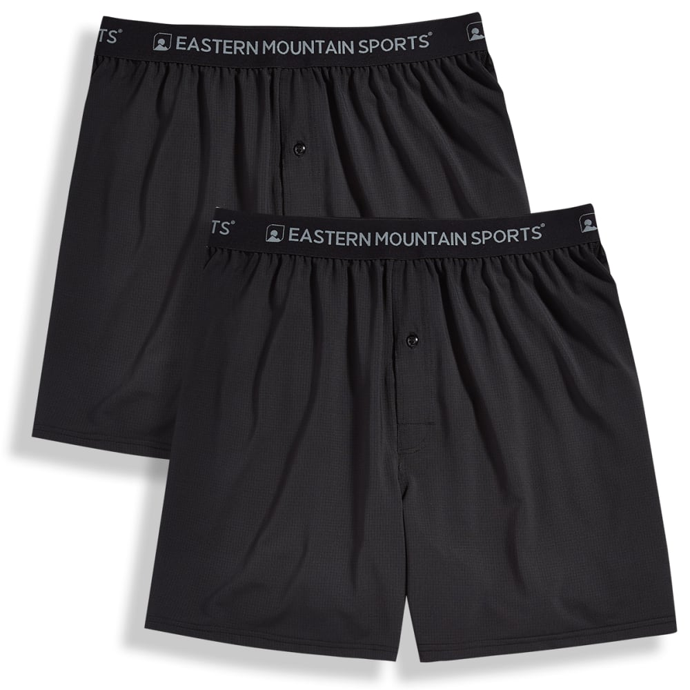 EMS Men's Techwick Boxers, 2-Pack - BLACK/BLACK