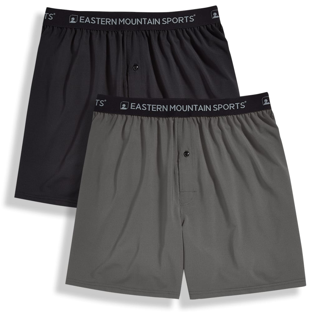 EMS Men's Techwick Boxers, 2-Pack - PEWTER/BLACK
