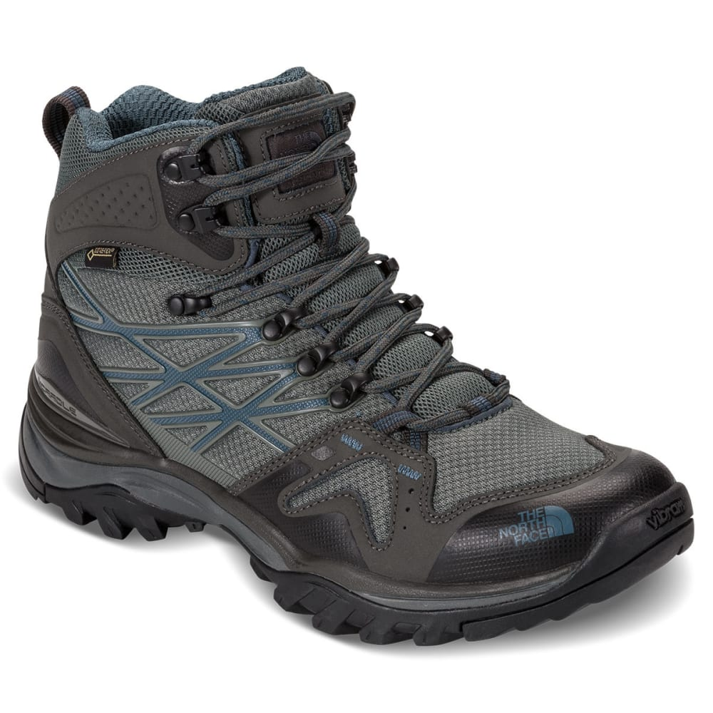 THE NORTH FACE Men's Hedgehog Fastpack Mid GTX Waterproof Hiking Boots - GRAHP/DLKSLATEBLU