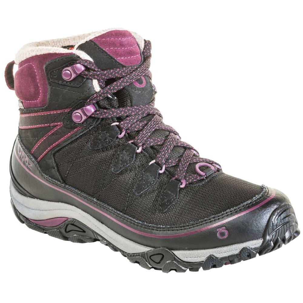 OBOZ Women's 6 in. Juniper Insulated Waterproof Mid Hiking Boots - ECLIPSE BLK/BEET