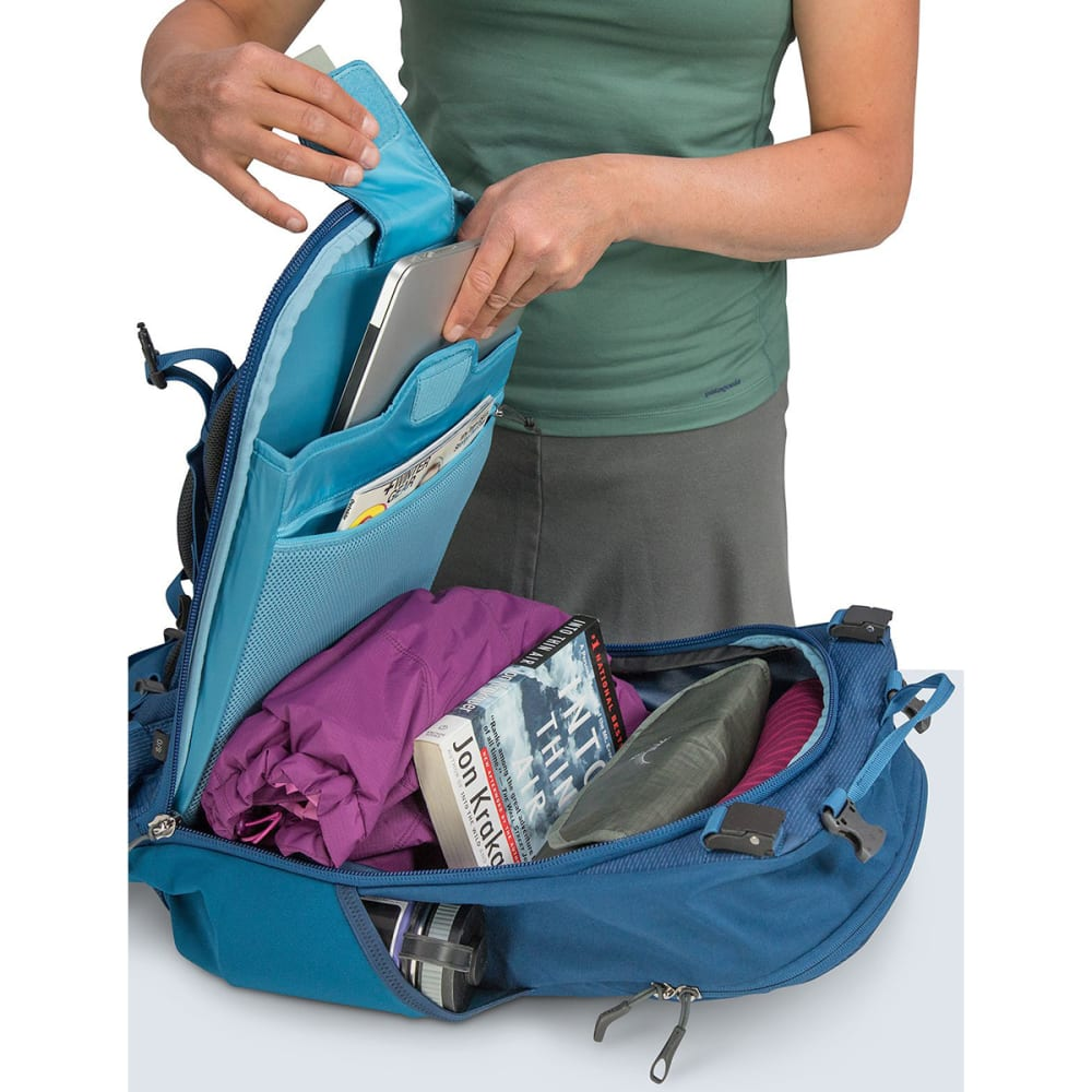 OSPREY Women's Ozone Duplex 60 Travel Pack - BUOYANT BLUE