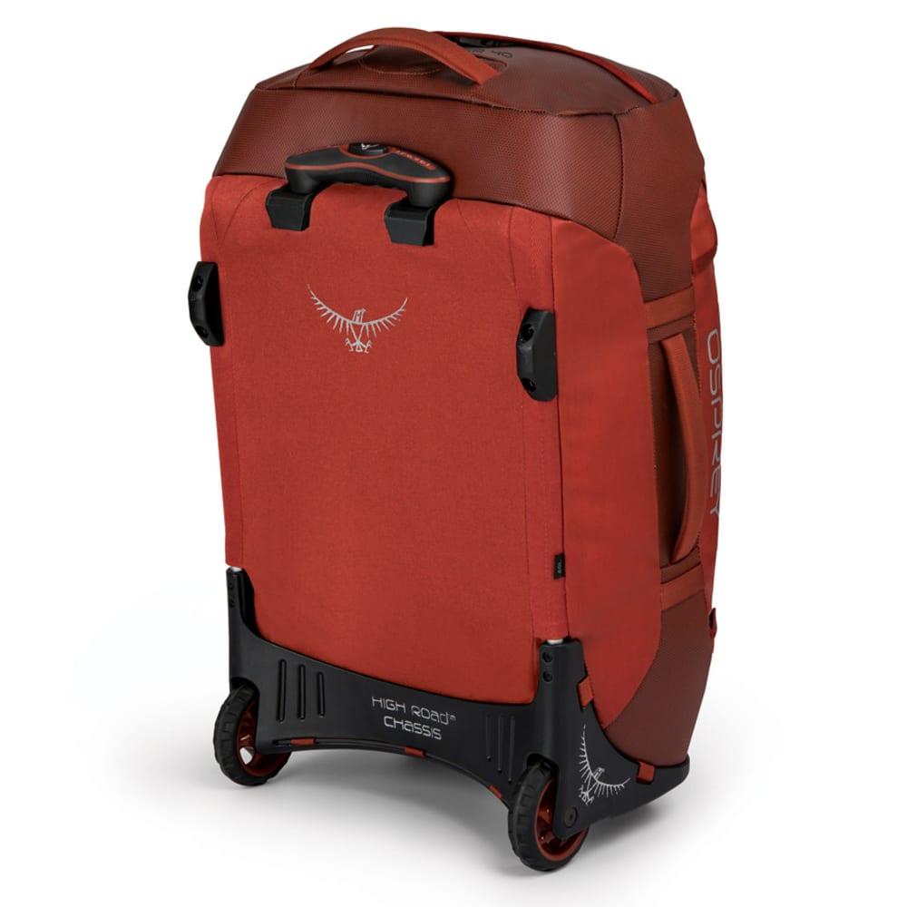OSPREY 40L Transporter Wheeled Duffel - RUFFIAN RED