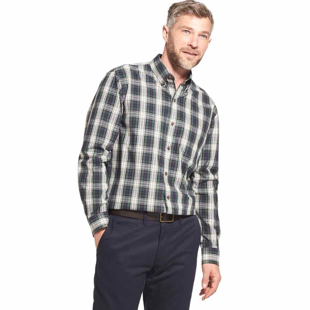 ARROW Men's Blazer Plaid Poplin Woven Long-Sleeve Shirt - BONE WHITE -271