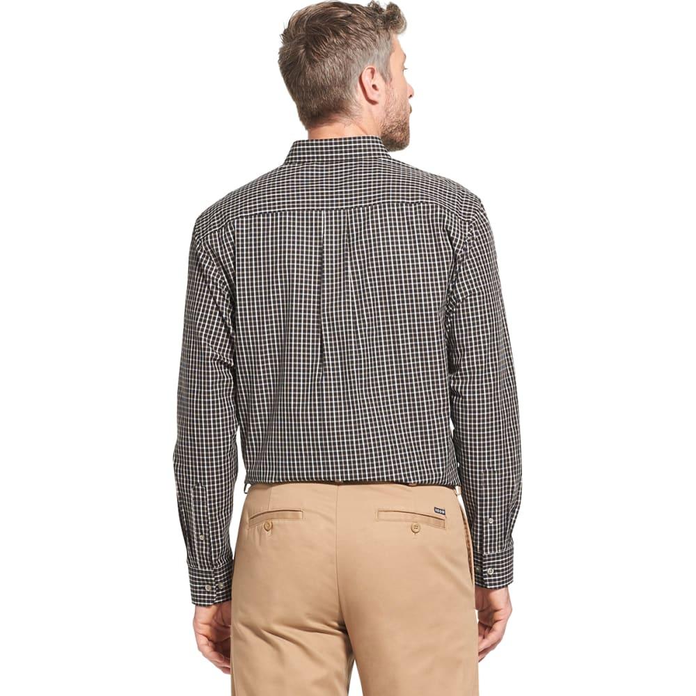 ARROW Men's Hamilton Plaid Poplin Long-Sleeve Shirt - BLACK - 001