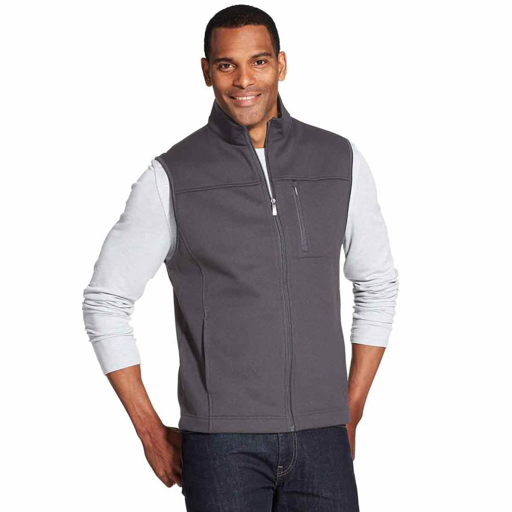 VAN HEUSEN Men's Traveler Honeycomb Full-Zip Vest - GREY PHANTOM - 062