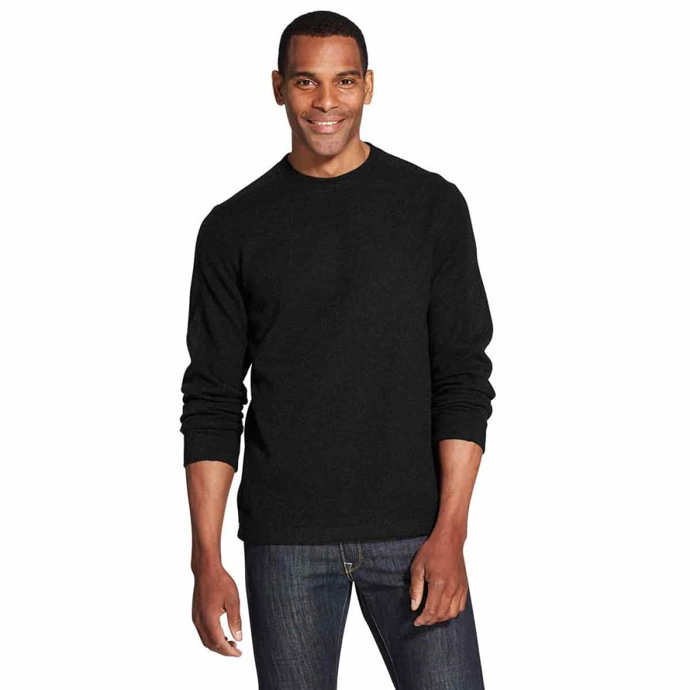 VAN HEUSEN Men's Flex Never Tuck Fleece Sweater - BLACK -001