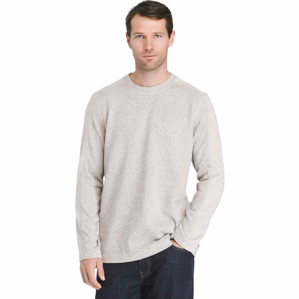 VAN HEUSEN Men's Flex Never Tuck Fleece Sweater - SILVER BIRCH -270