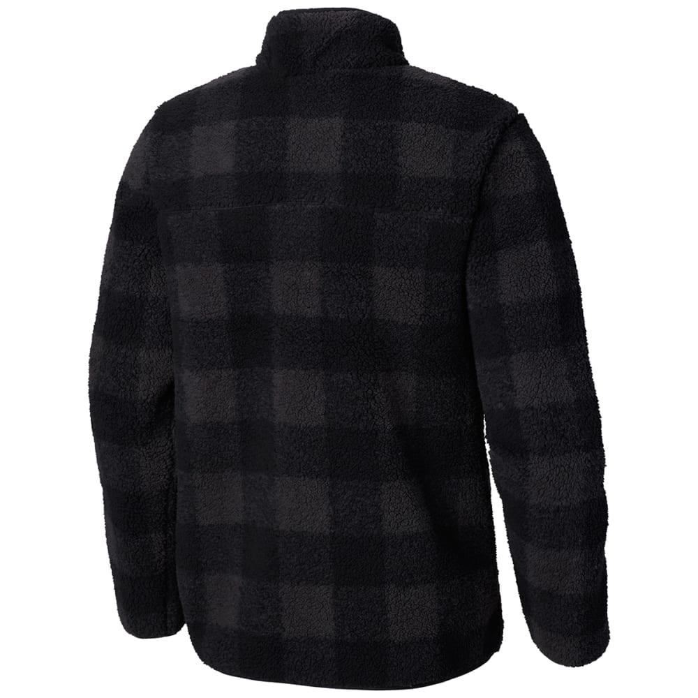 COLUMBIA Men's Mountain Side Heavyweight Full-Zip Fleece - BLACK PLAID-011