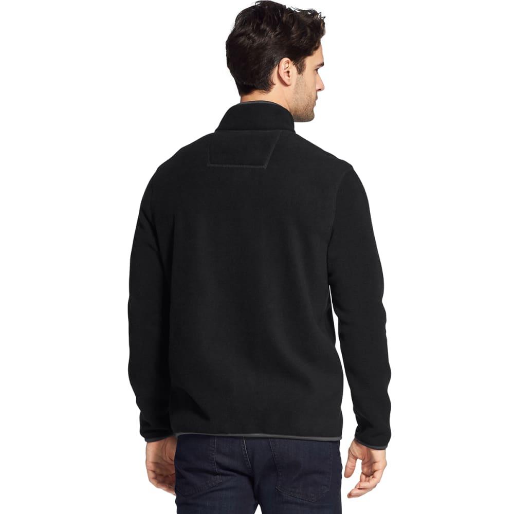 G.H. BASS & CO. Men's Arctic Fleece Snap Placket Pullover - BLACK HTR -027