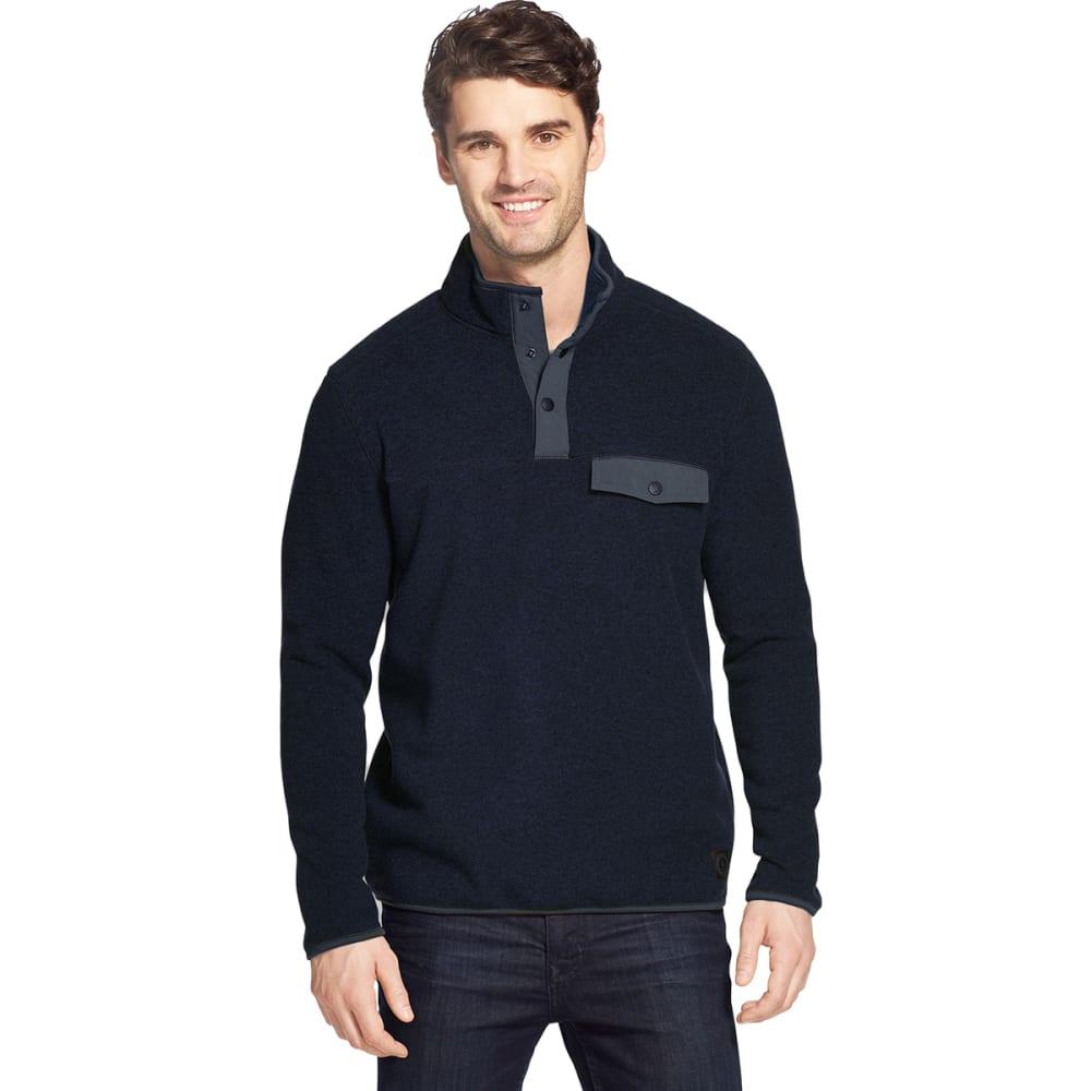 G.H. BASS & CO. Men's Arctic Fleece Snap Placket Pullover - NIGHT SKY -466