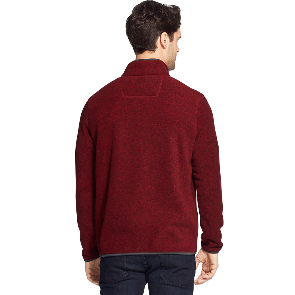 G.H. BASS & CO. Men's Arctic Fleece Snap Placket Pullover - RHUBARB HTR -645