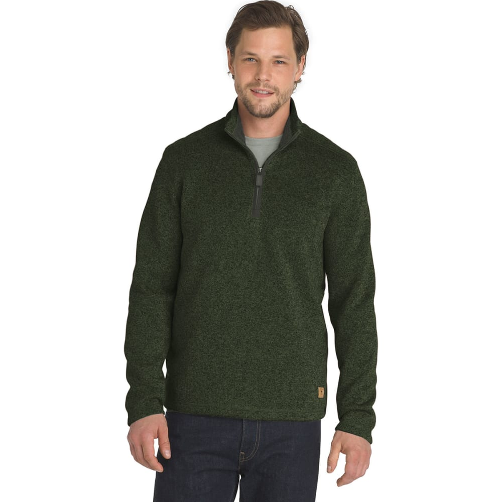 G.H. BASS & CO. Men's Madawaska 1/4 Zip Fleece Pullover - FOREST NIGHT -363