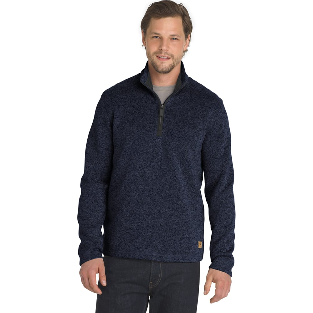 G.H. BASS & CO. Men's Madawaska 1/4 Zip Fleece Pullover - BLU HORIZON HTR -472