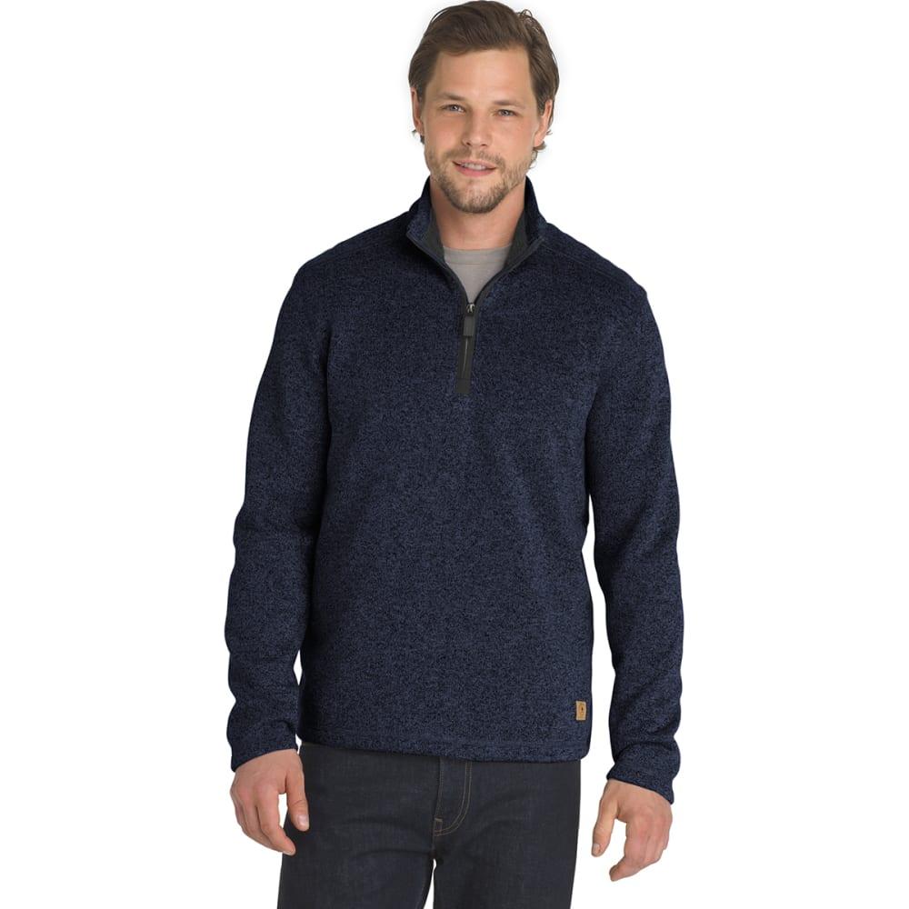G.H. BASS & CO. Men's Madawaska 1/4 Zip Fleece Pullover - BLU HORIZON HTR -472