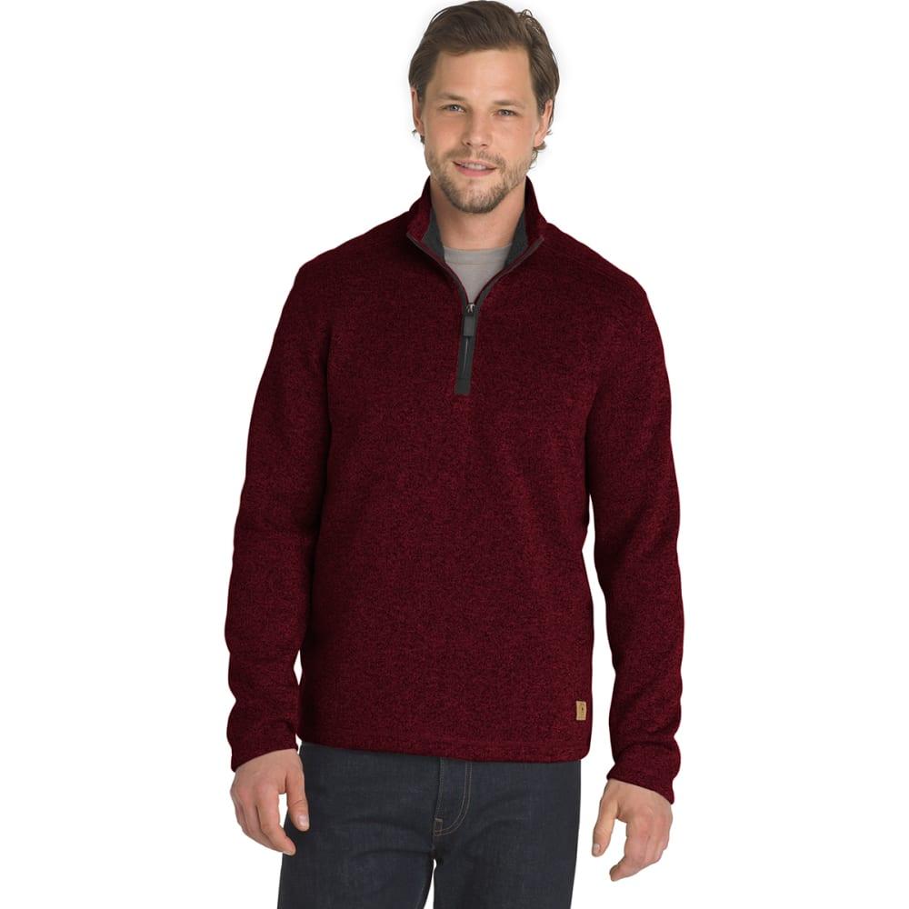 G.H. BASS & CO. Men's Madawaska 1/4 Zip Fleece Pullover - RHUBARB HTR -645