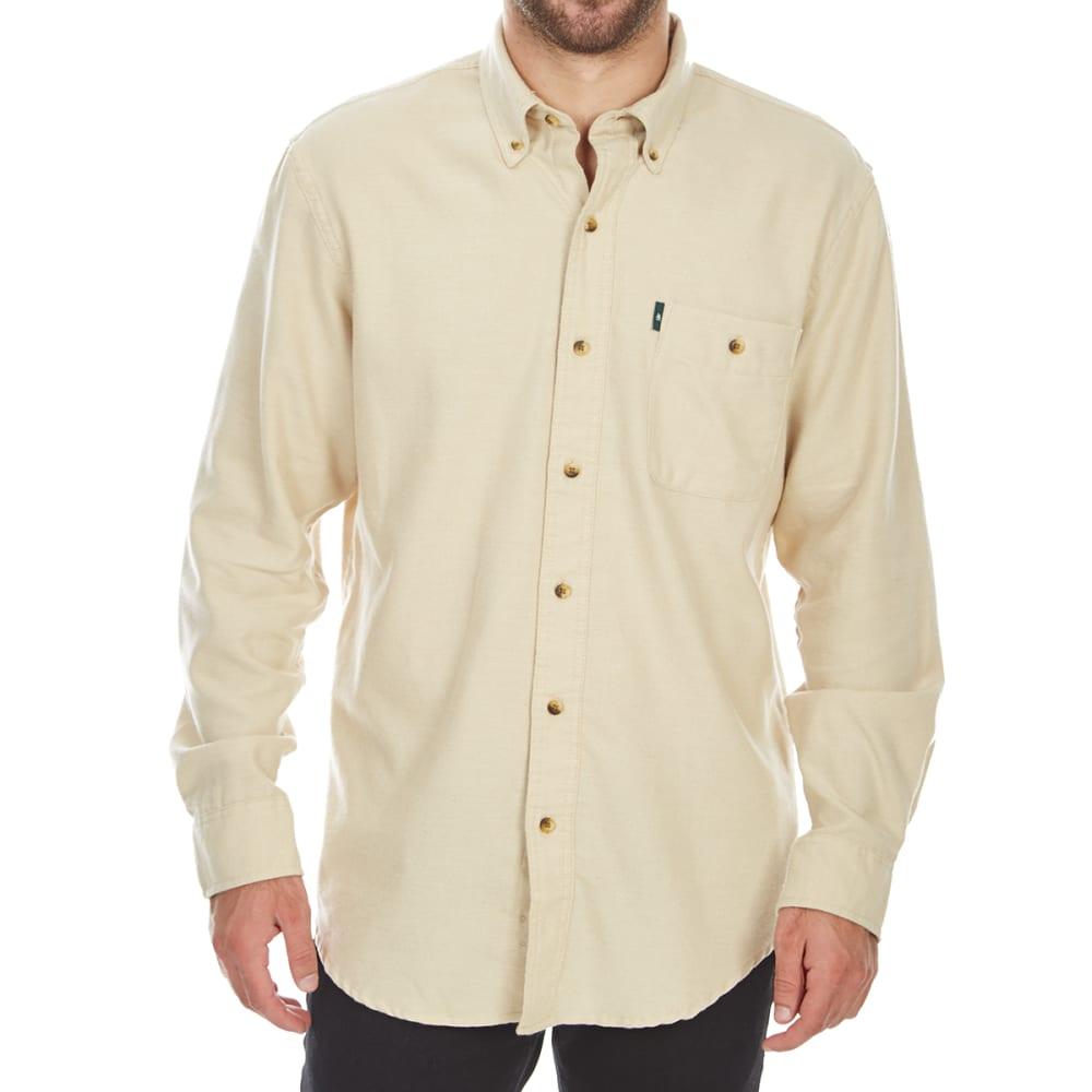 G.H. BASS & CO. Men's Jaspe Solid Long-Sleeve Flannel Shirt XXL