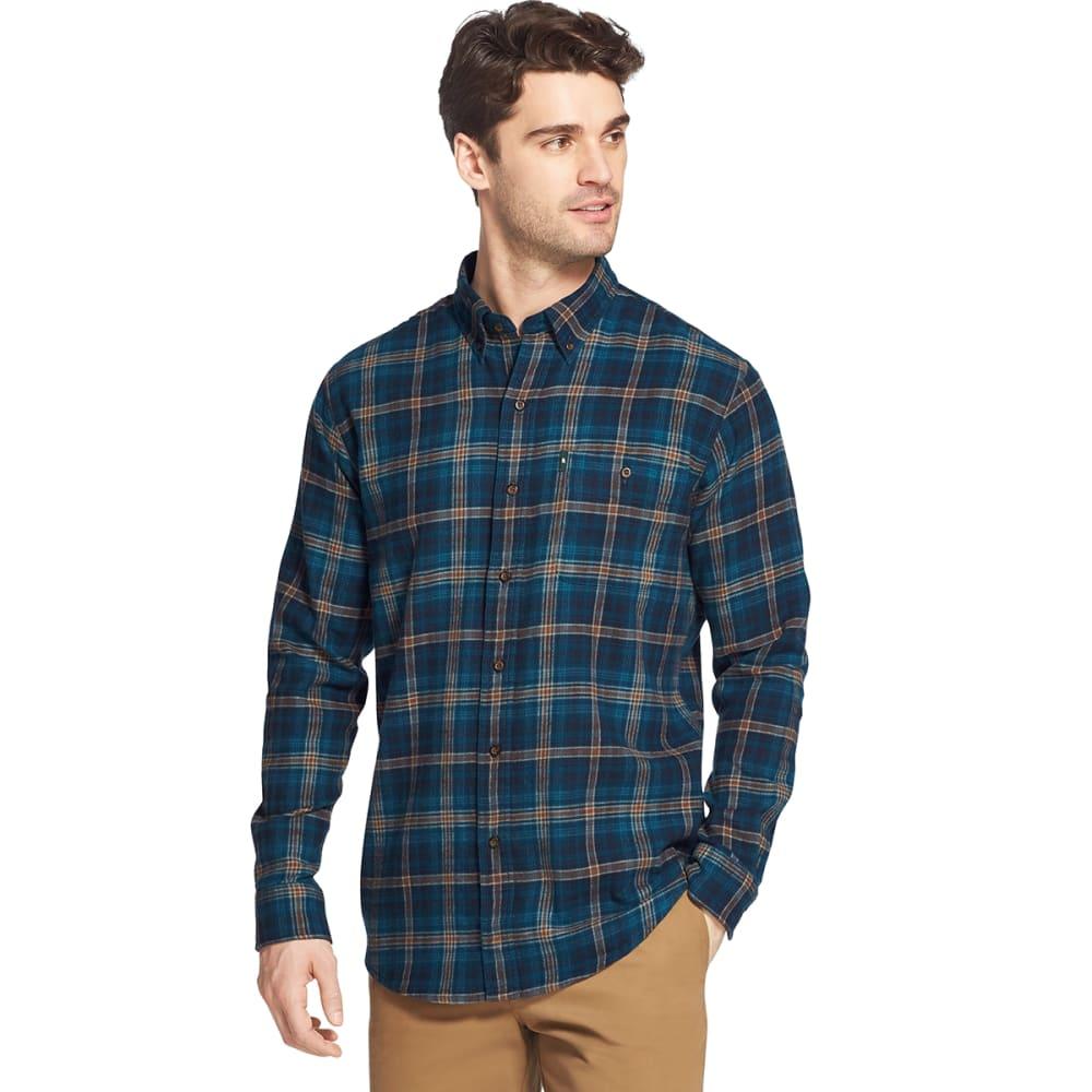 G.H. BASS & CO. Men's Fireside Long-Sleeve Flannel Shirt - SEABED -346