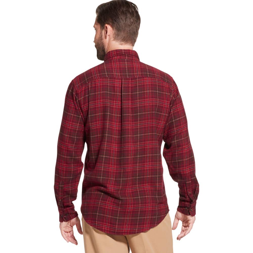 G.H. BASS & CO. Men's Fireside Long-Sleeve Flannel Shirt - RHUBARB -605
