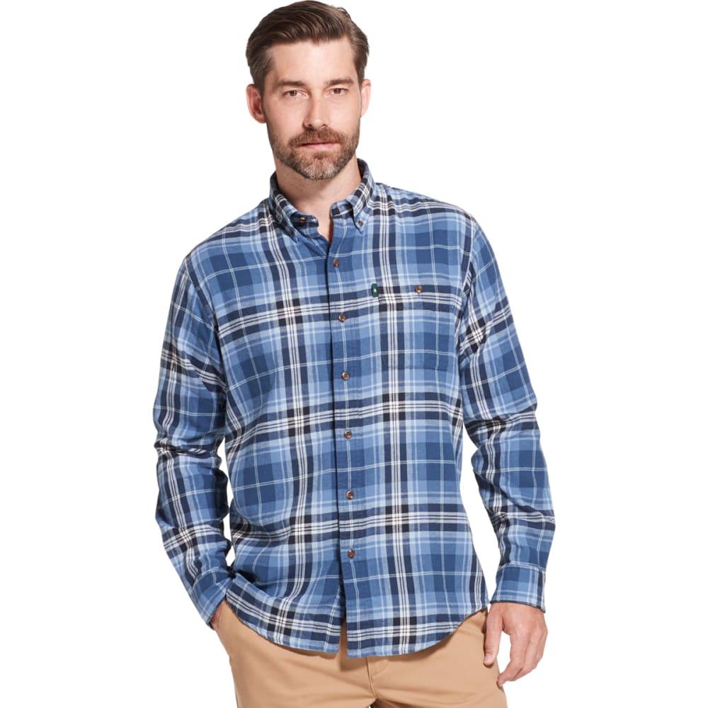 G.H. BASS & CO. Men's Fireside Long-Sleeve Flannel Shirt - SARGASSO SEA -434