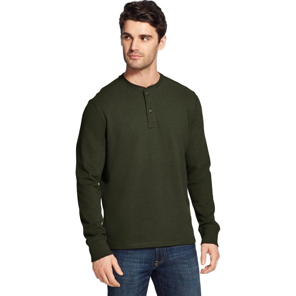 G.H. BASS & CO. Men's Carbon Plaited Jersey Long-Sleeve Henley - ROSIN HTR -301