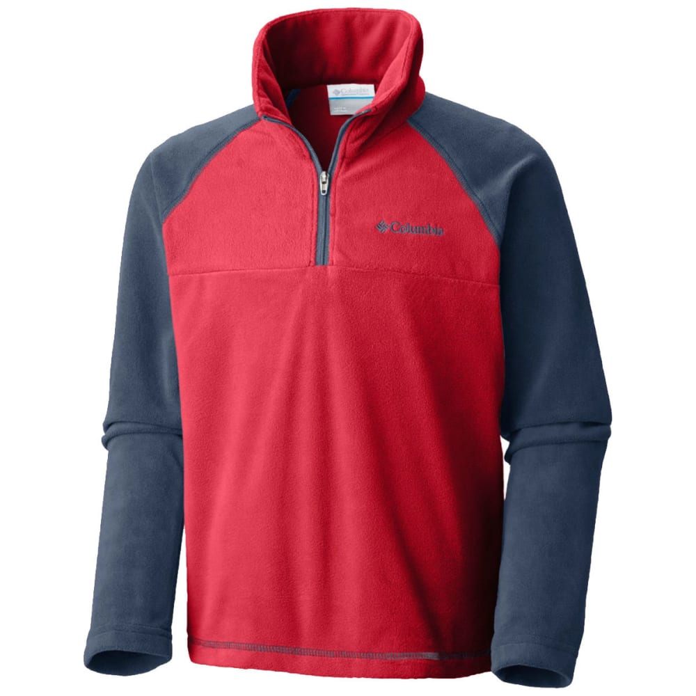COLUMBIA Boys' Glacial™ Fleece Half Zip Jacket - RED SPARK -696