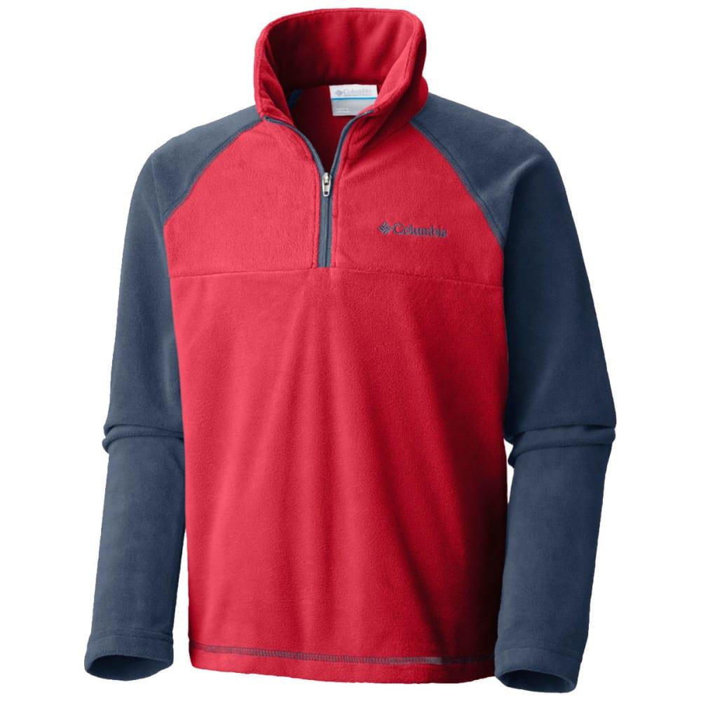 COLUMBIA Boys' Glacial™ Fleece Half Zip Jacket - RED SPARK -696