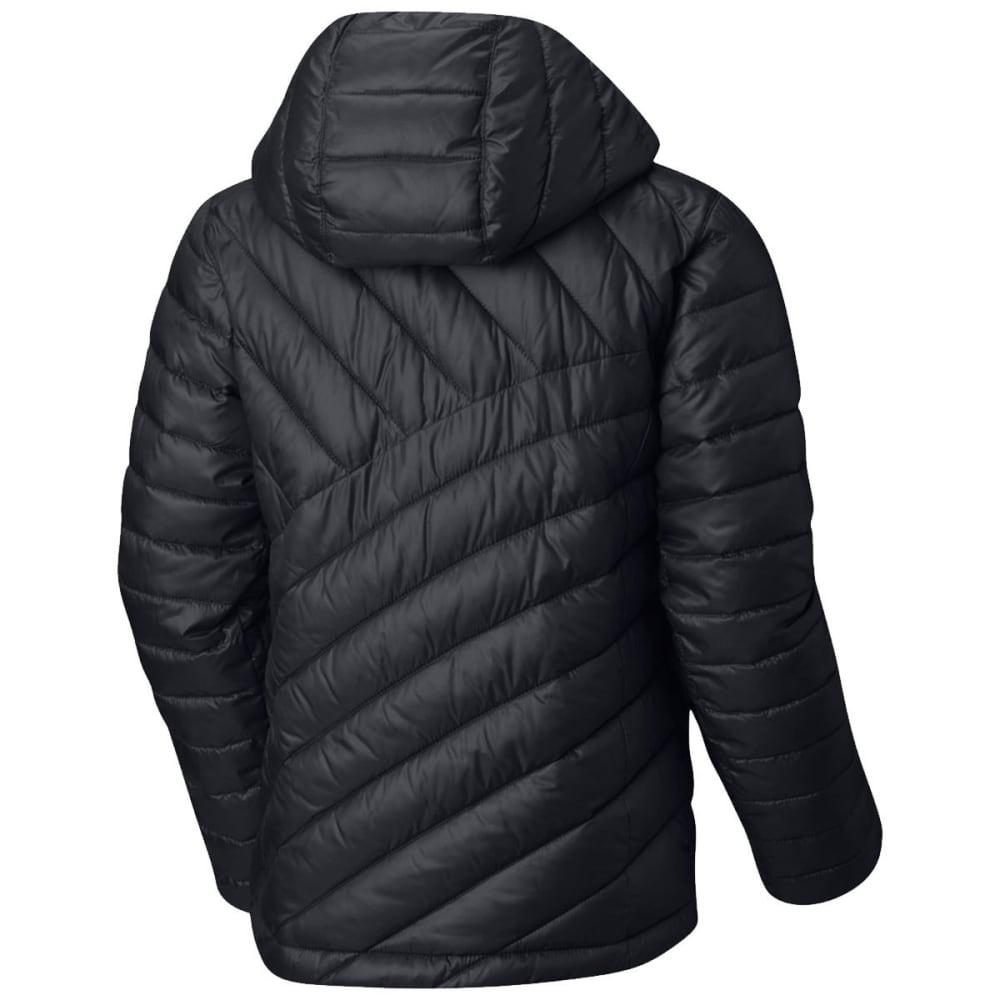 COLUMBIA Big Girls' Powder Lite Puffer Jacket - BLACK/TIKI PINK-014