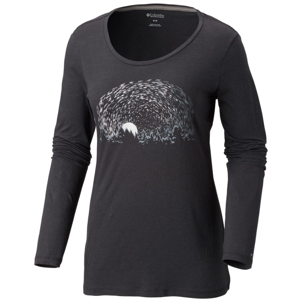COLUMBIA Women's Starry Nights Long-Sleeve Tee - BLACK-010